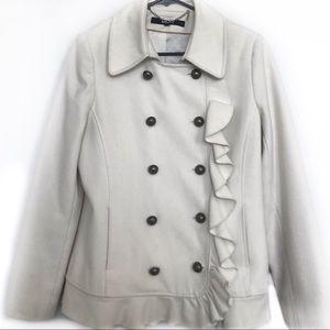 DKNY Wool blend ruffle jacket!